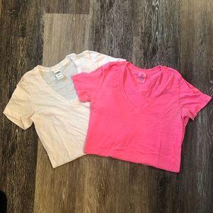 Victoria's Secret PINK Perfect V-Neck Tee Shirts
